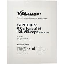 Velcap Antifog Lens Covers, 128/Pkg