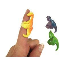 "Vinyl Dinosaur Rings, Assorted Styles, 2"", 12/Pkg"