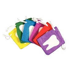 "Bright Tooth Fairy Bags, Assorted Colors, 2-1/2"", 12/Pkg"