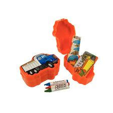"Plastic Construction Truck Activity Sets, 3-1/2"", 12/Pkg"