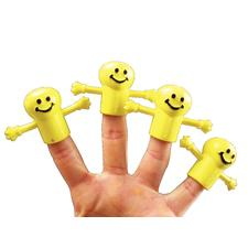 "Smile Face Finger Puppets, 1-1/4"", 72/Pkg"