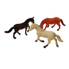 "Assorted Plastic Horses, 2-1/2"", 12/Pkg"