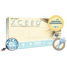XCEED Nitrile Examination Gloves - Powder Free, Latex Free, Blue, 250/Box