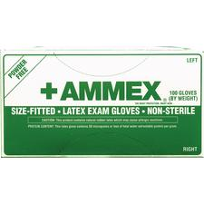 +AMMEX Latex Exam Gloves - Hand Specific, 50 Pairs/Box