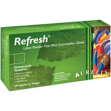 Aurelia® Refresh™ Exam Gloves Green with Peppermint Fragrance
