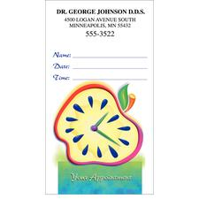 Full Color Standard Appointment Card, 500/Pkg