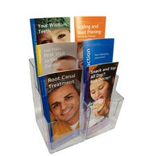 Brochure Holder, 8-1/4&#34; W x 9&#34; H x 5-1/4&#34; D