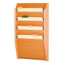 Oak X-Ray Holder And Chart/File Racks