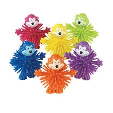 "Monkey Porcupine Balls, Assorted Colors, 2-1/2"" W x 2-1/2"" H x 1-1/2"" D, 12/Pkg"