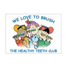 Healthy Teeth Club Postcards