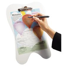 "Tooth Clipboard, 15"" H, White"