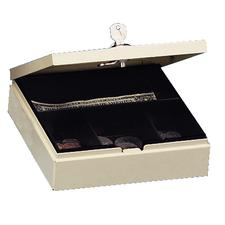 "Personal Security Box, Sand, 7"" W x 2-1/4"" H x 6-7/8"" D"