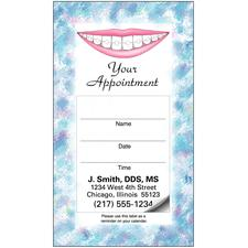 "Orthodontic Sticker Appointment Card, 2"" W x 3-1/2"" H, 500/Pkg"