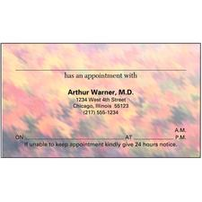 "Appointment Card, 3-1/2"" W x 2"" H, 500/Pkg"
