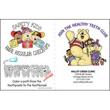 "Coloring Booklet, Personalized, 8-1/2"" x 11""; folded, 250/Pkg"