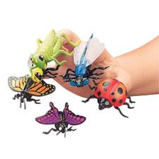"Vinyl Insect Finger Puppets, Assorted, 1-3/4""-2-3/4"", 12/Pkg"