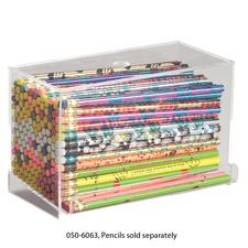 "Acrylic Pencil Dispenser, Holds 144 Pencils or Pens, 8"" W x 5"" H x 4-1/2"" D"