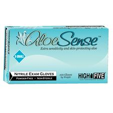 Aloe Sense™ Powder-Free Nitrile Gloves - Textured, 100/Box