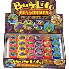 Mini Bug Stamps, Assorted, 1&#34; Dia x 1-1/2&#34; H, 24/Pkg