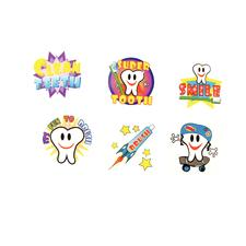 "Dental Tattoos, Assorted, 1-1/2"", 144/Pkg"