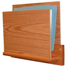 Wooden Mallet Open-End Chart Holder, Square Mount, 14-7/8&#34; W x 11-3/4&#34; H x 3-1/2&#34; D