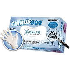 Cirrus800™ Nitrile Exam Gloves - White, 200/box - Medium