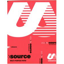 "Econosource Multipurpose Copy Paper, 20 lb White, 8-1/2"" W x 11"" H, 500 Sheets/Ream; 1 Ream/Pkg"