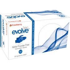 Cranberry Evolve300™ Powder Free Nitrile Examination Gloves - Medium, 300/pkg