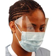 Ultra No-Fog® Earloop Face Mask with Shield - Latex Free, 25/Box