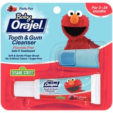Baby Orajel™ Tooth and Gum Cleanser with Finger Brush - 0.7 oz Tubes, 6/Pkg
