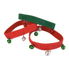 "Rubber Bracelet with Metal Jingle Bells, 8"", 12/Pkg"