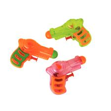 "Plastic Neon Grip Squirt Guns, Assorted Colors, 4"", 12/Pkg"