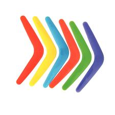 "Plastic Bright Boomerangs, Assorted Colors, 10"", 48/Pkg"