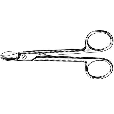 Crown and Collar Scissors - 4-1/4