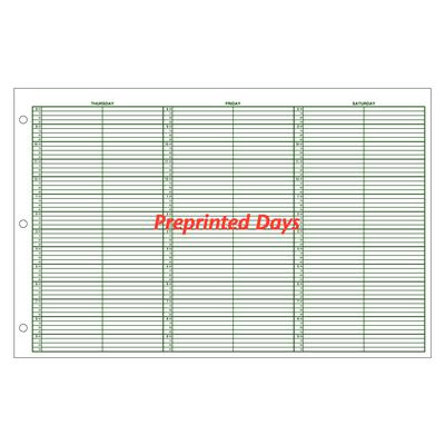 jumbo unprinted days undated appointment sheets 15 minute intervals