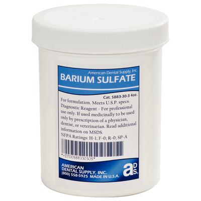 Barium sulfate 4 oz american dental supply for What does contrast do