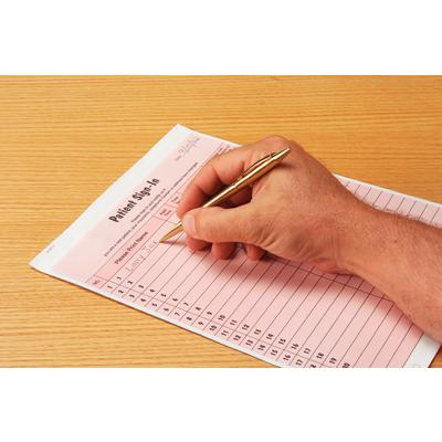 privacy sign in sheet with peel off labels 2 part carbon