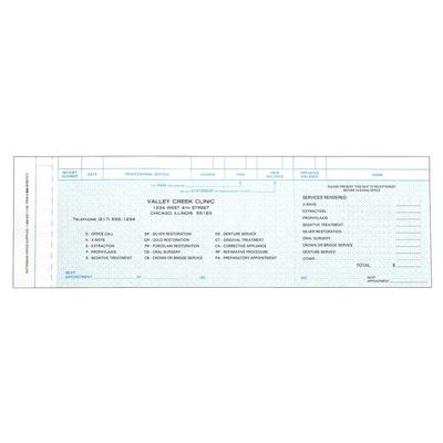 receipt and charge slips 1000 pkg control o fax