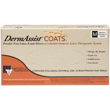 DermAssist™ COATS® Powder-Free Latex Exam Gloves, 100/Pkg