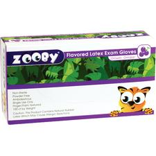 Zooby Flavored Latex Exam Gloves, 100/Pkg
