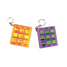 "Tic Tac Toe Keychains, Assorted Colors, 2"", 12/Pkg"