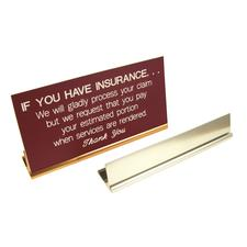 """Metal Sign Holders, 8"""" W x 1"""" H x 1-1/2"""" D"""