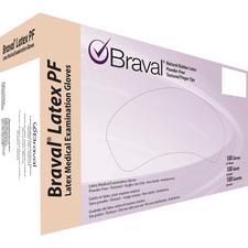 Gants d'examen en latex microtexturé Braval® – sans poudre, 100/boîte