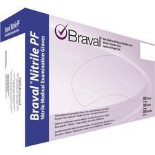 Gants d'examen en nitrile Braval®  – sans poudre, sans latex, bleu de lavande