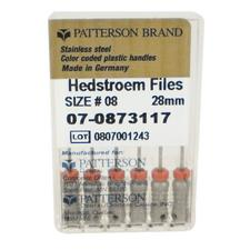 Limes Hedstrom de Patterson® – 28 mm, cône 0,02, 6/emballage