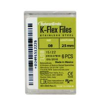 K-Flex Files Color Coded Plastic Handle – Length 25 mm, 6/Pkg