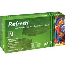 Aurelia® Refresh™ Exam Gloves Green with Peppermint Fragrance, 100/Pkg