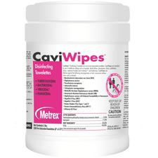 "CaviWipes™ Surface Disinfectant Towelette Wipes – 6"" x 6.75"", 160 Wipes/Canister"