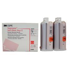 Matériau à base de polyéther mou pour empreintes Impregum™ – Recharge de matériau de viscosité basse à application en une seule étape, 4cartouches avec embouts