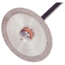 Disque diamanté sans revêtement – longueur de manche de2,35mm, ultra fin, n°2751, double face rabattable, diamètre de220mm, épaisseur de0,15mm, 1/emballage